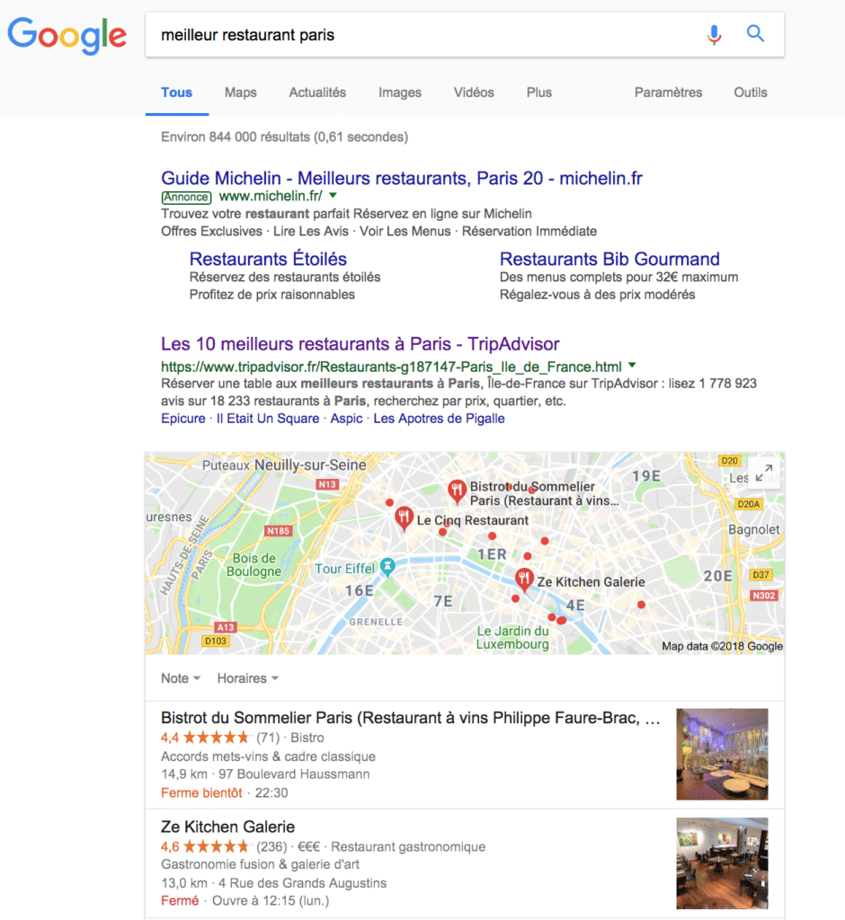 Bien référencer son restaurant sur Google