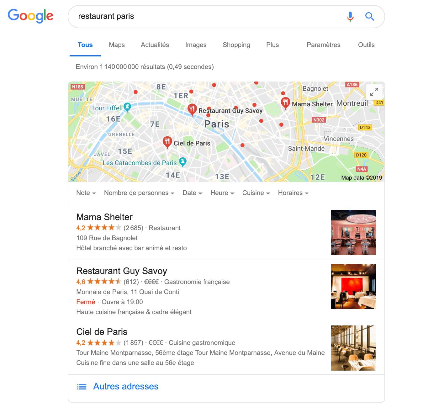 Referencement Restaurant Paris Optimize 360