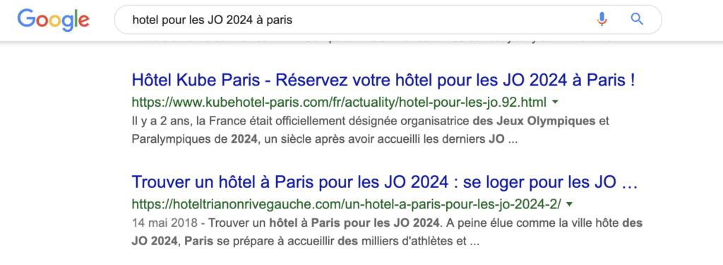 hotel pour les JO 2024