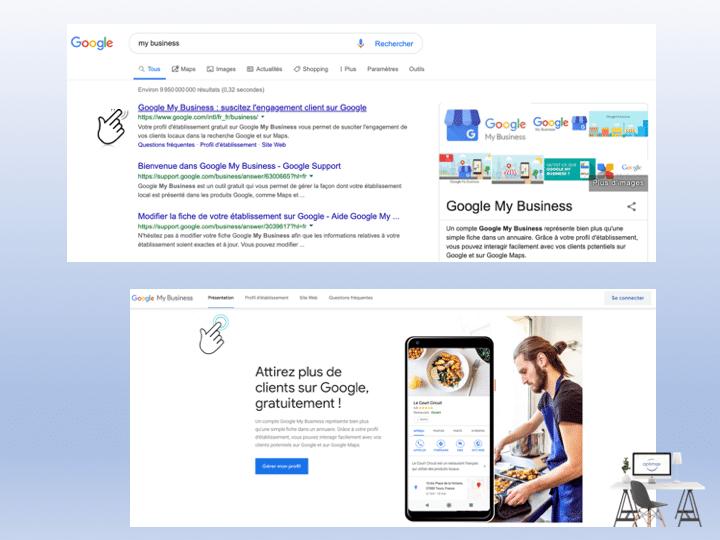 Rendre mon site visible sur Google, Google my Business d'abord
