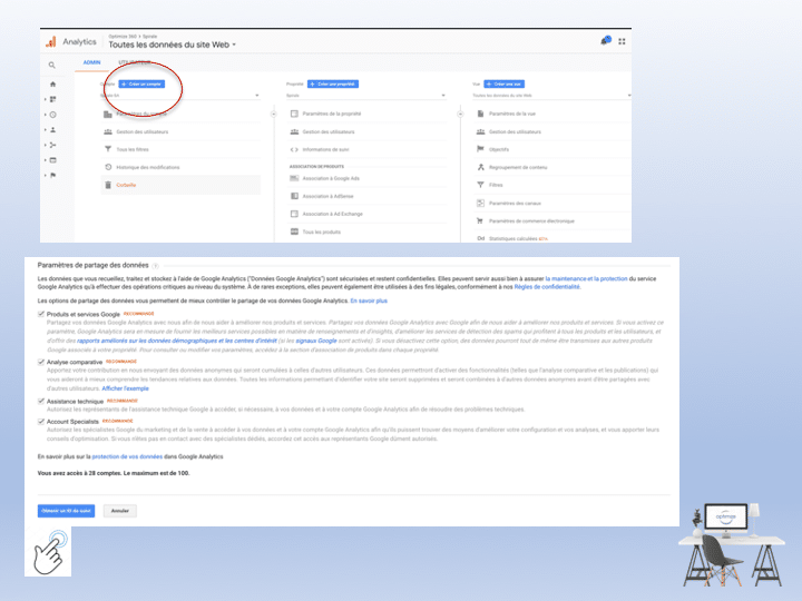 rendre mon site visible sur Google, l'outil Google Analytics