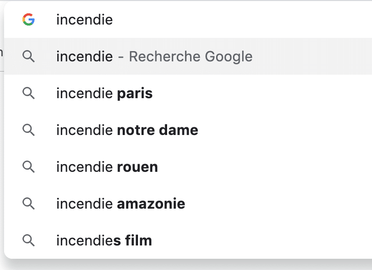 Google Suggest, acteur impliqué de l'actualité, compile les thèmes populaires pour son référencement Google