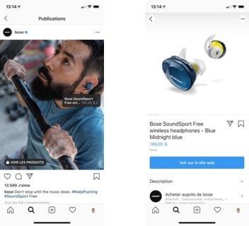 Bose Vente sur Instagram