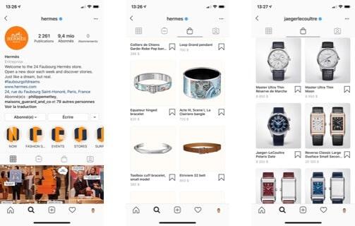 Vente sur instagram marques de luxe