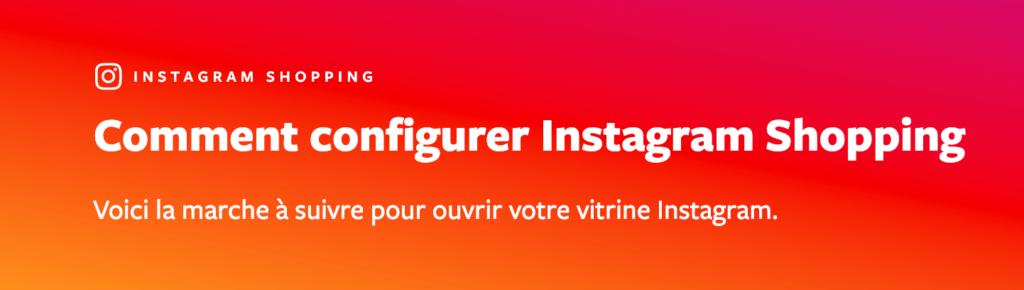 comment configurer instagram shopping