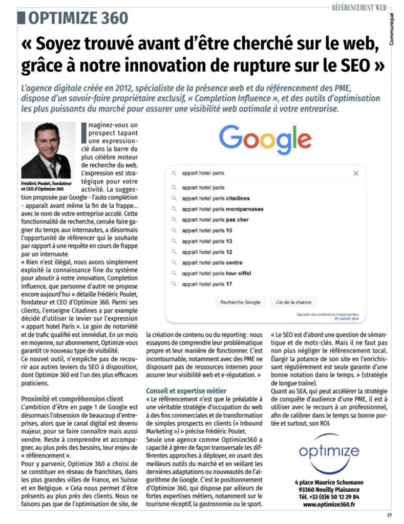 Innovation en SEO I Completion Influence